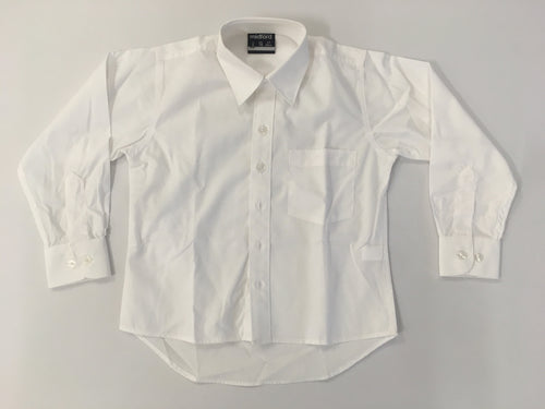 MF1006 Boy's Long Sleeve White School Shirt