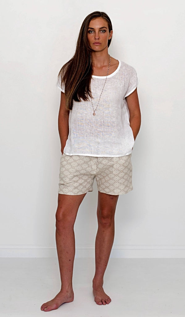 AMELIA LINEN SHORTS - 4 colours