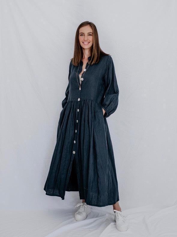 EMMA LINEN DRESS - 5 COLOURS