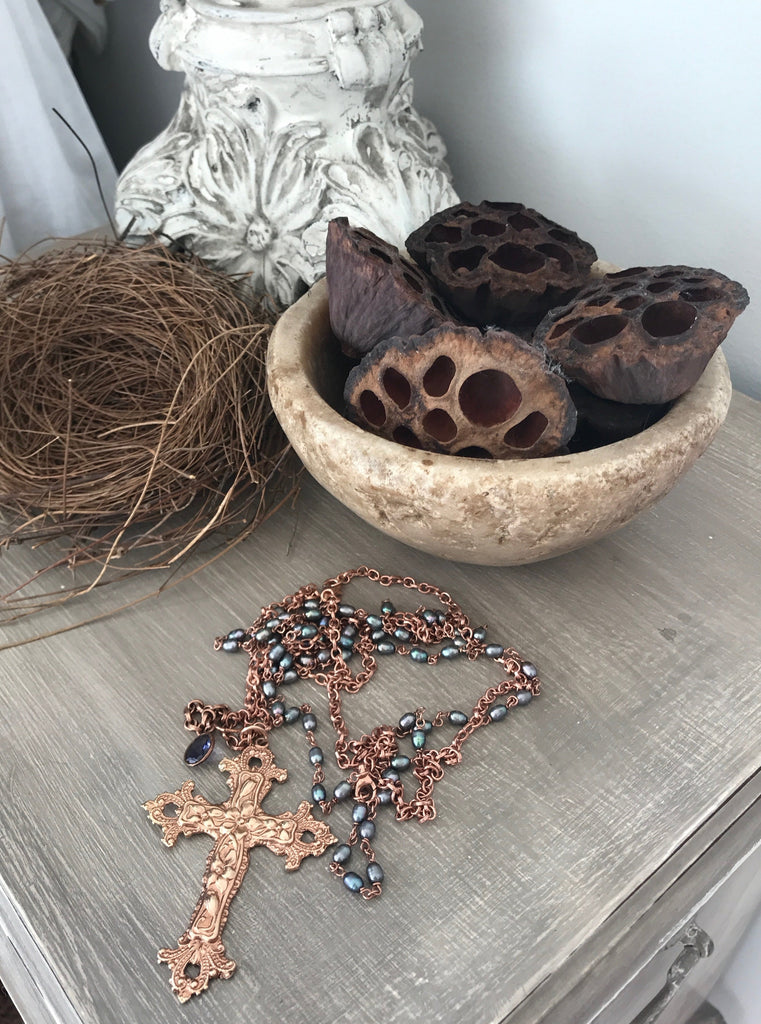 FRANCESCA CROSS NECKLACE
