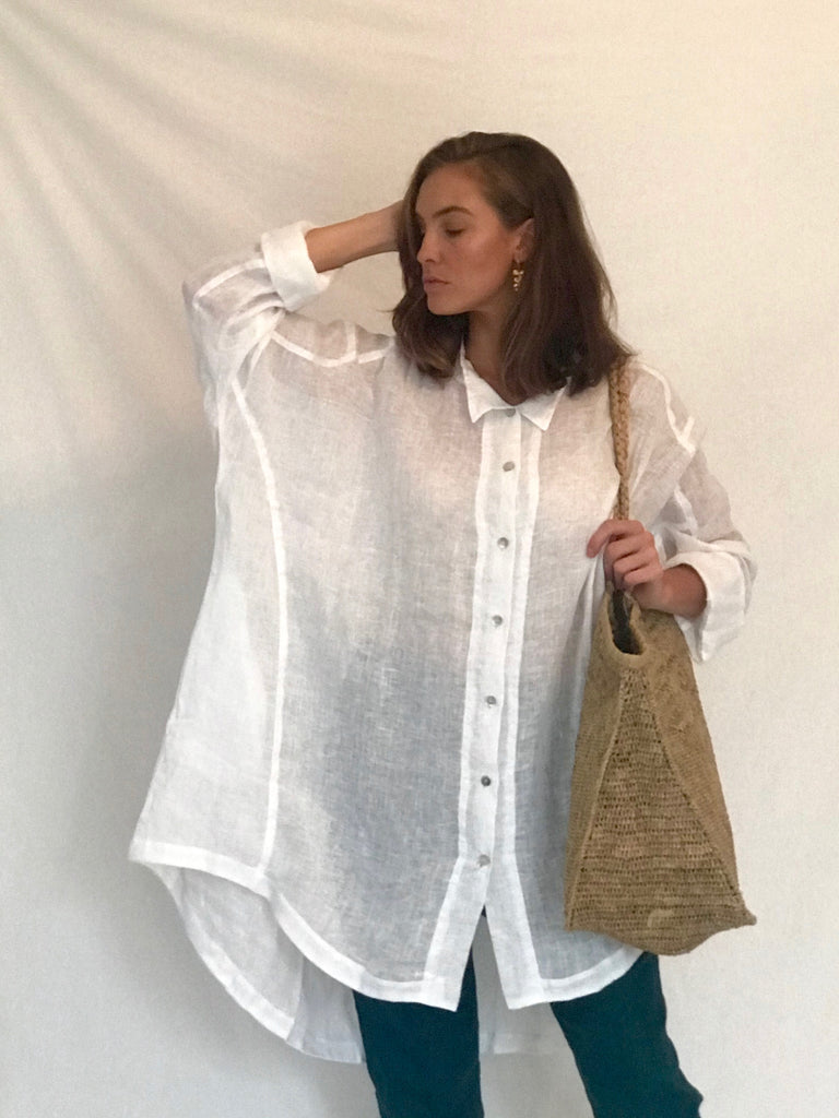 MARY LINEN GAUZE SHIRT- 2 COLOURS