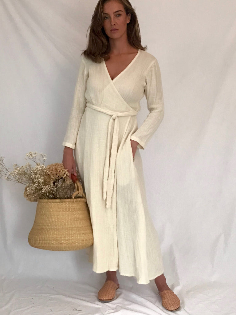 COLETTE WRAP DRESS- WINTER SLEEVES- 4 colours