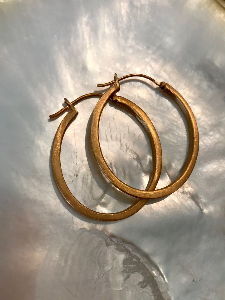 GOLD HOOP EARRINGS- ROSE AND YELLOW