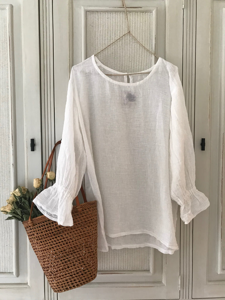 MACY BLOUSE- OFF WHITE