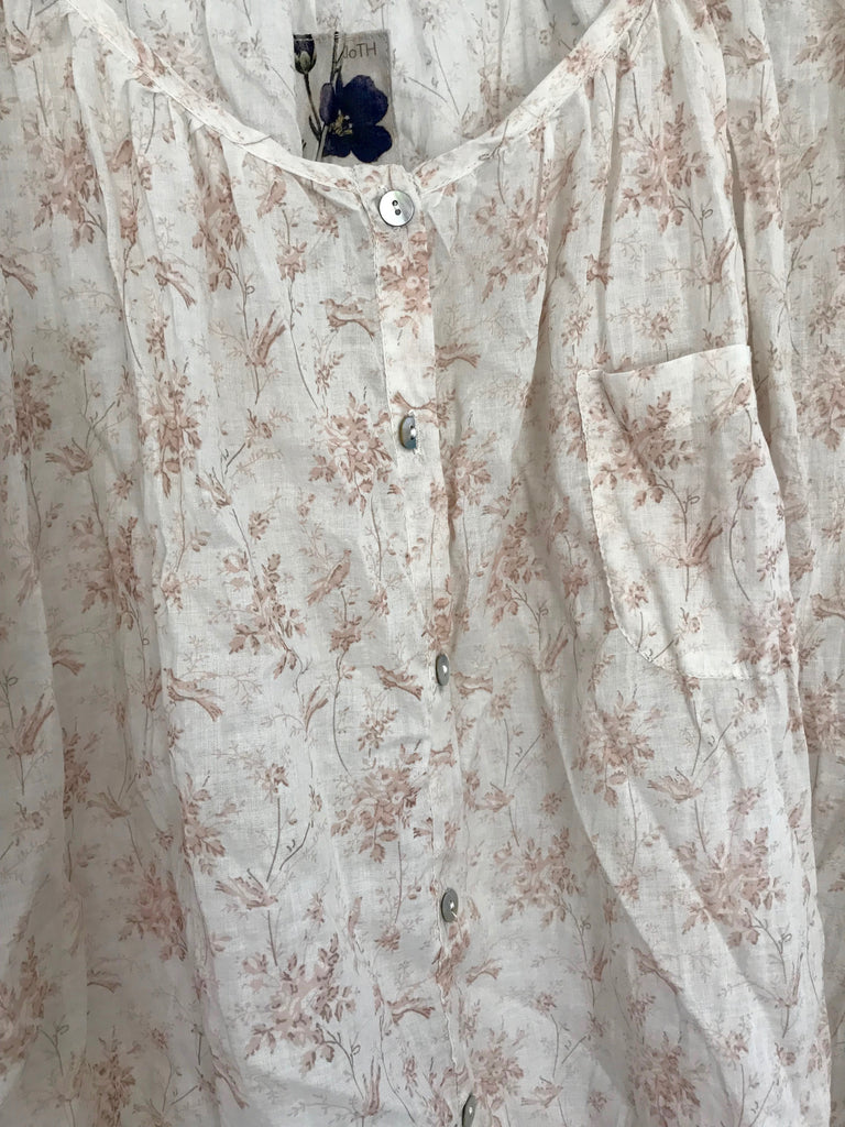 LEORA COTTON  BLOUSE - Dusty pink