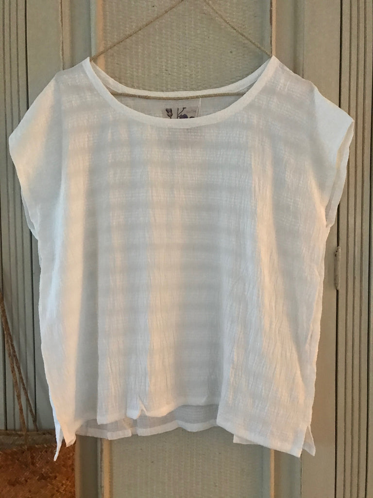 JESSE WHITE COTTON BLOUSE