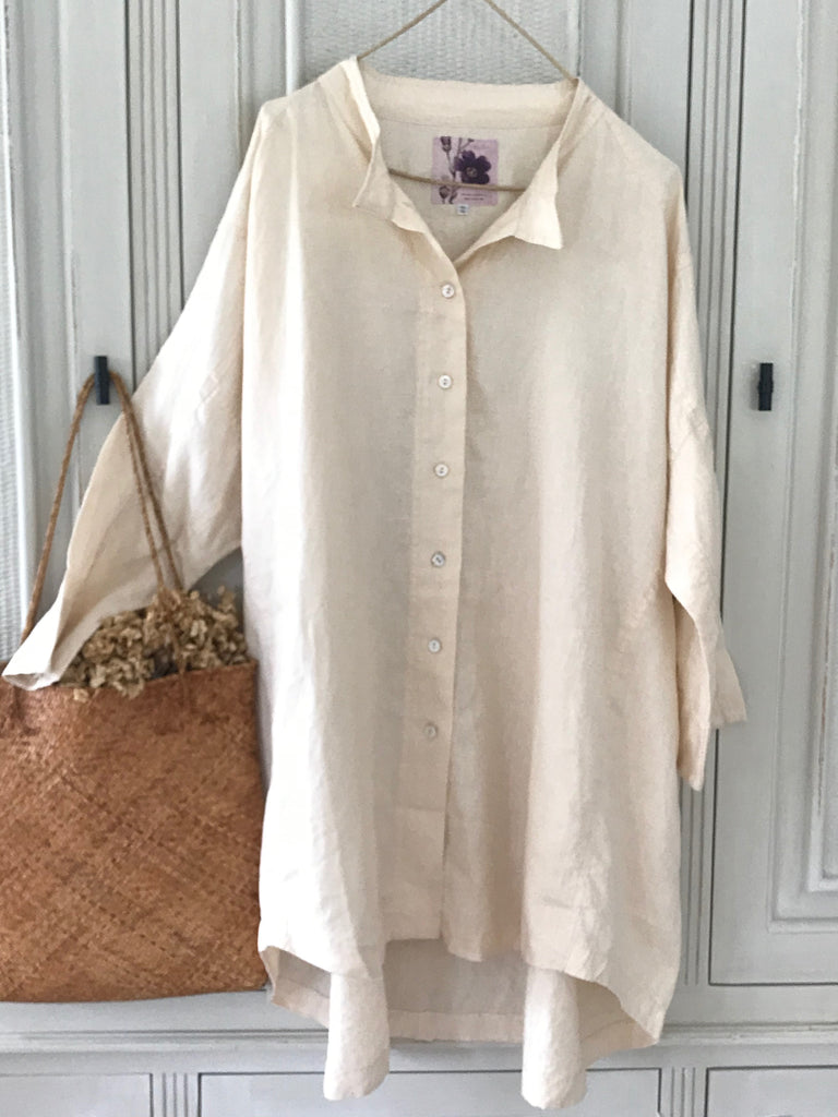 MARY LINEN SHIRT- 6 COLOURS
