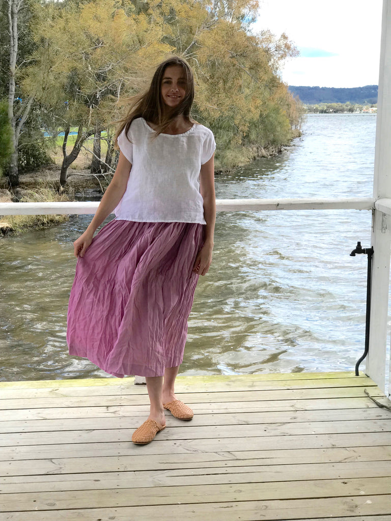 LAYLA LINEN SKIRT - MIDI- 6 colours