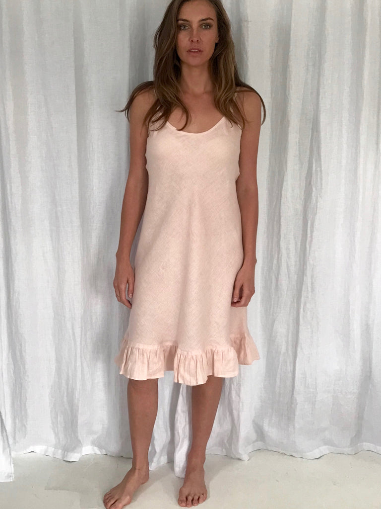 CAMILLE LINEN SLIP DRESS - 4 COLOURS