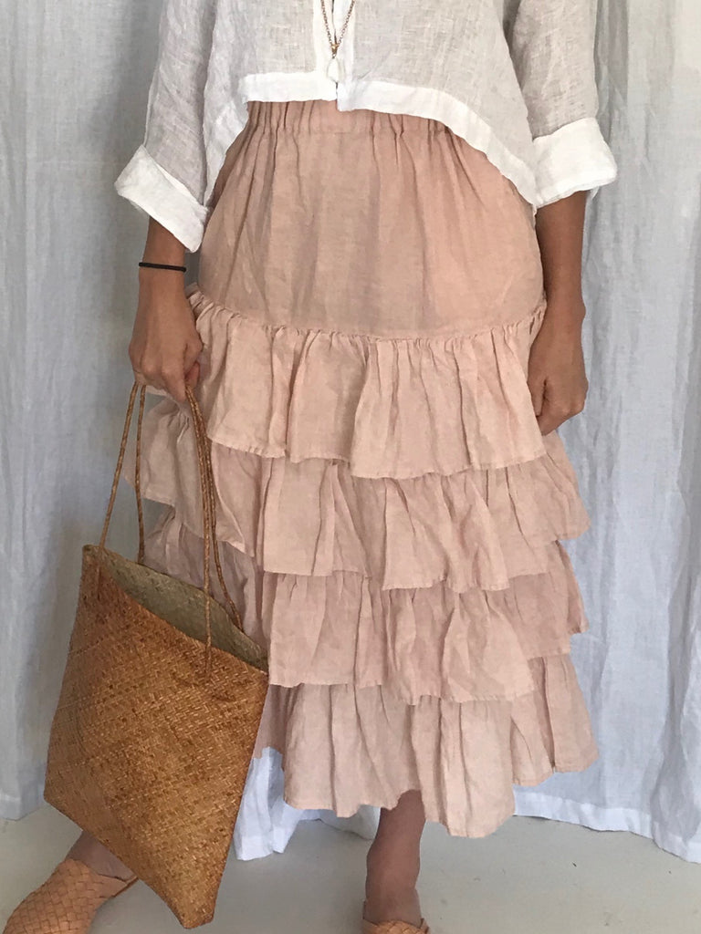 ISABELLE LINEN SKIRT- 5 COLOURS