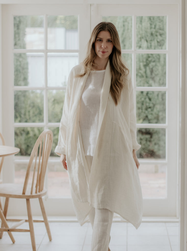 ESTELLE  LINEN COAT - 2 COLOURS