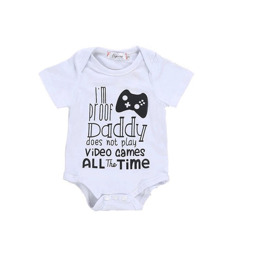 Daddy Gaming Romper