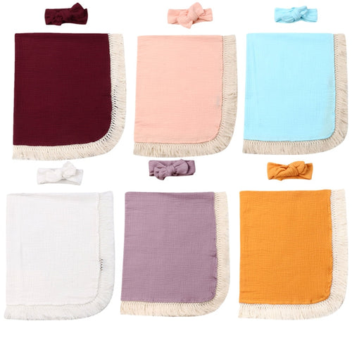 Tassel Swaddle Wrap Set