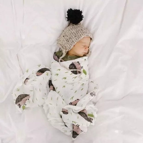 My Little Hedgehog Muslin Wrap
