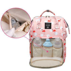 Flamingo Nappy Bag (4 colours)