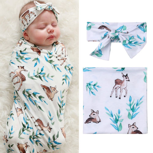 Delicate Deer Muslin Wrap Set