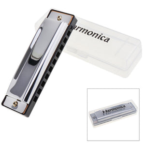 10 Holes Stainless Steel Harmonica