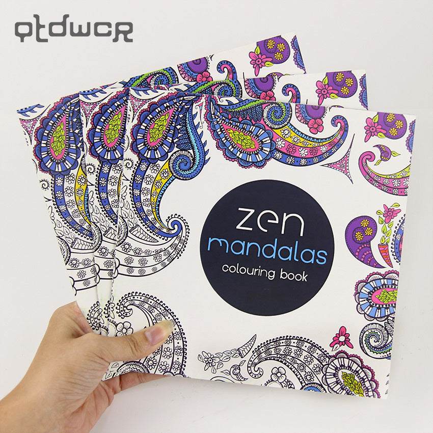 24 Pages New Mandala Black and White DIY Coloring Book