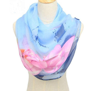 Spring and Autumn Chiffon Scarf