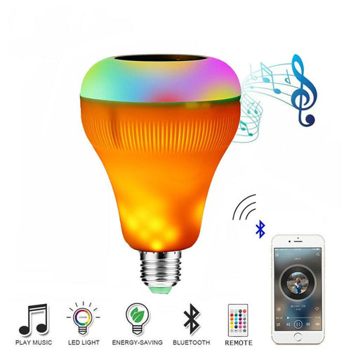 E27 Bluetooth Speaker Flame Bulb