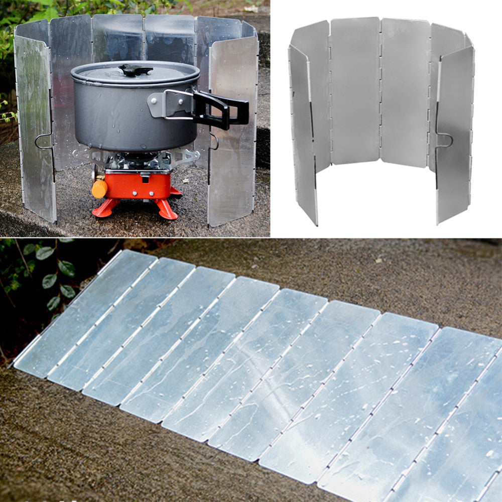 Outdoor Stove Windshield