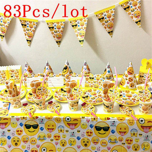 Emoji Theme Disposable Tableware Set