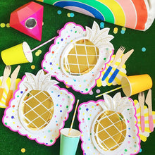8PCS/Lot Gold Pineapple Disposable Tableware