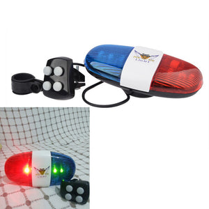 Bicycle Bell Horn Police Light Accessory for Bike Scooter