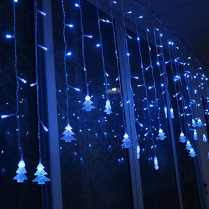 Christmas Tree Curtain LED Lights