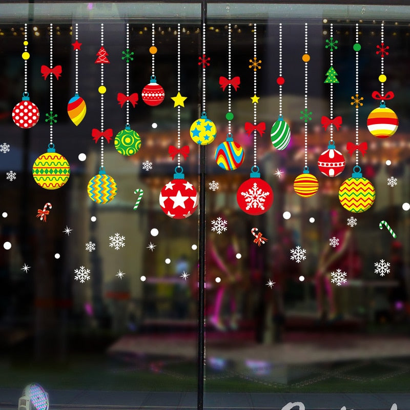 Colorful Christmas Decals