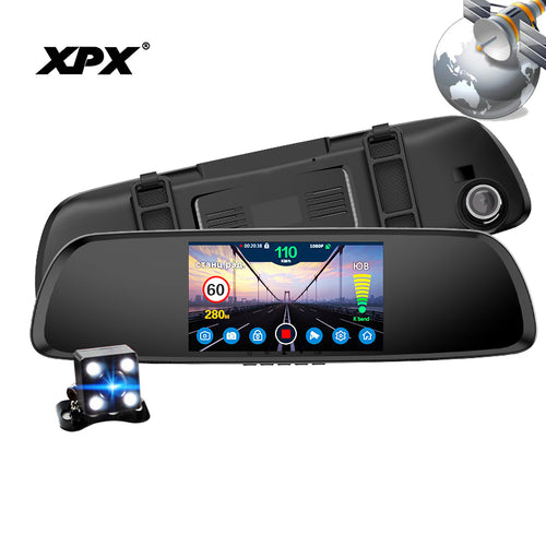 XPX G616-STR DVR Rear View Mirror Dash Cam