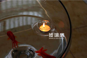 Transparent Floating Glass Candle Holder