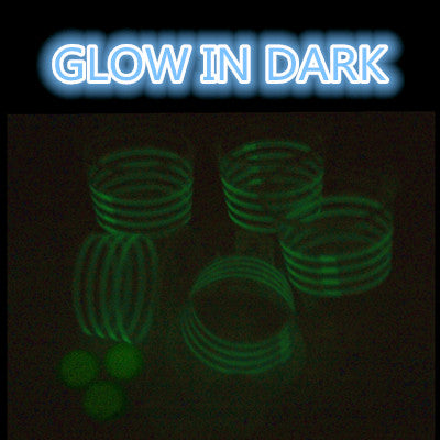 Glowing Beer Pong Balls and Cups