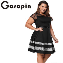 Gosopin Plus Size Vintage Dress