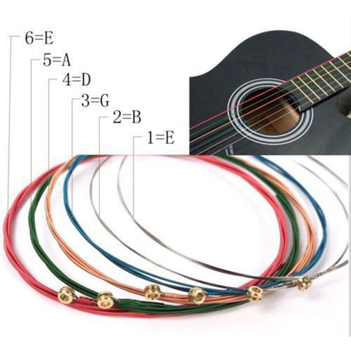 Colored Guitar String Set