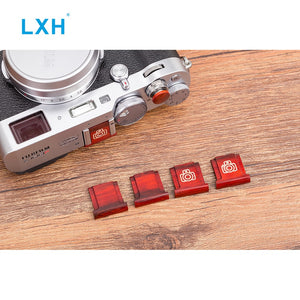 Wooden Shutter Release Button with Hot Shoe Cover