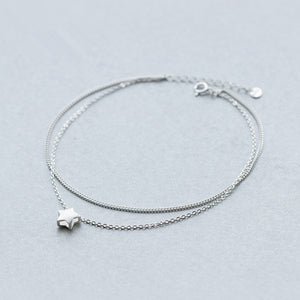 Star Charm Double Strand Anklet