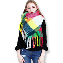 Multicolor Blanket Shawl