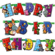Animal Birthday Party Banner