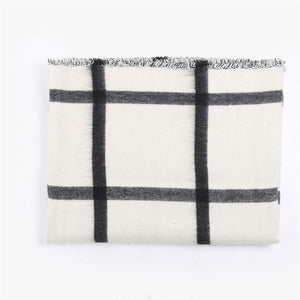 Plaid Cashmere Oversized Shawl