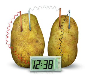 Potato Powered Clock