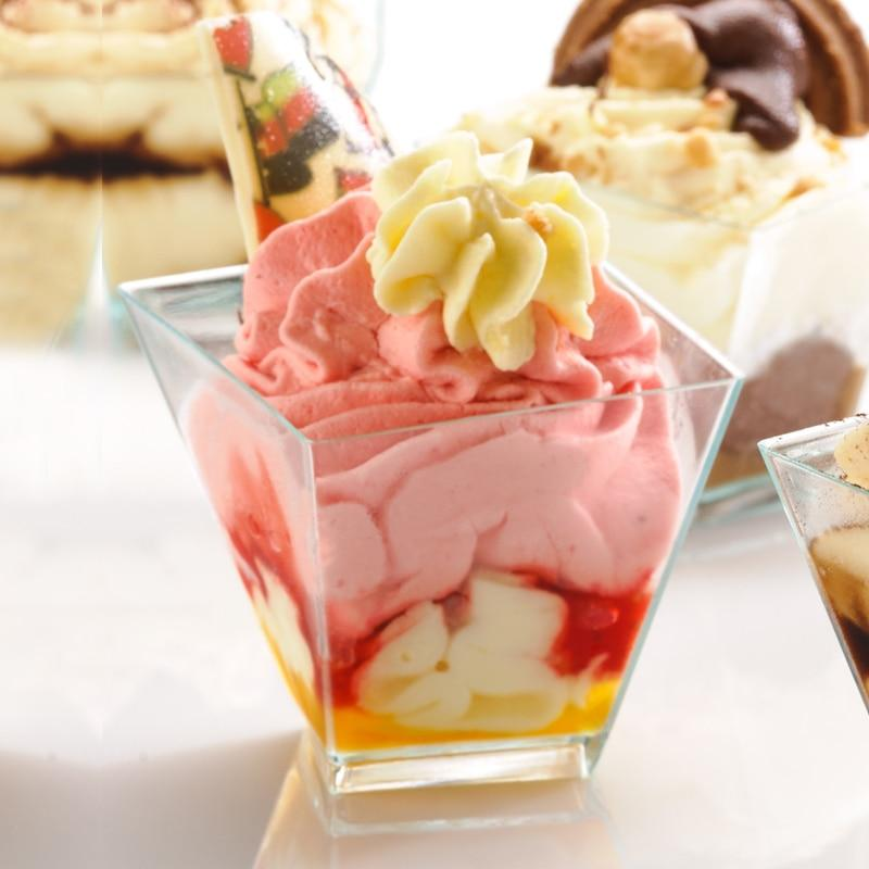 Transparent Dessert Twisted Cup