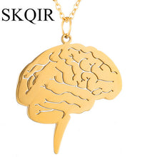 Brain Pendant - Gold
