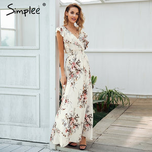 Casual beach chic boho maxi dress