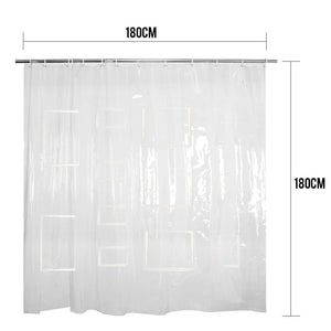 Transparent Shower Curtain with Pockets
