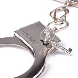 Pretend Play Silver Metal Handcuffs