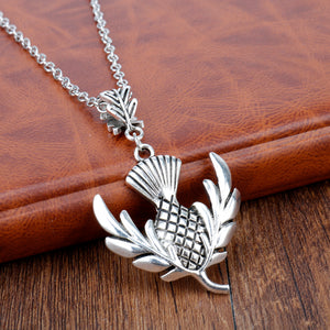Outlander Scottish Thistle Pendant