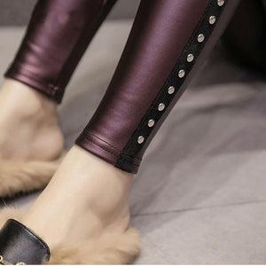 Riveted Leather Leggings