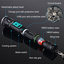 Rechargeable LED Tactical Flashlight