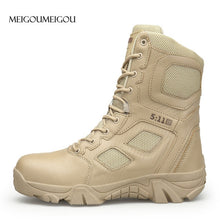 Waterproof and Slip-Resistant Army Boots